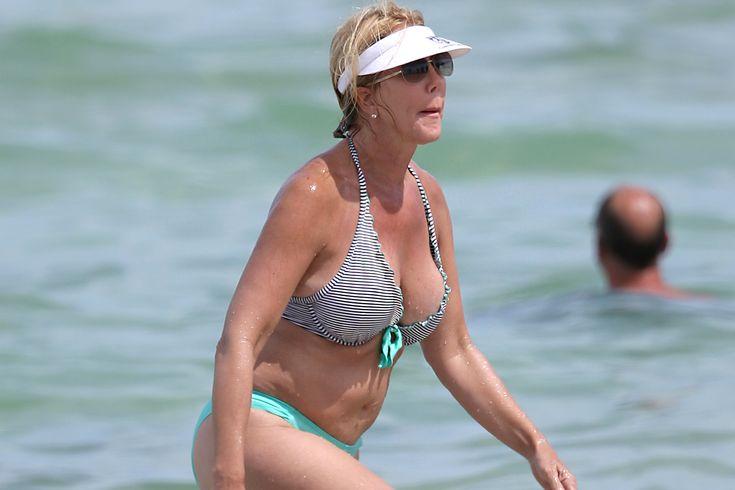 #RHOC's Vicki Gunvalson Hits Miami Beach in a Bikini