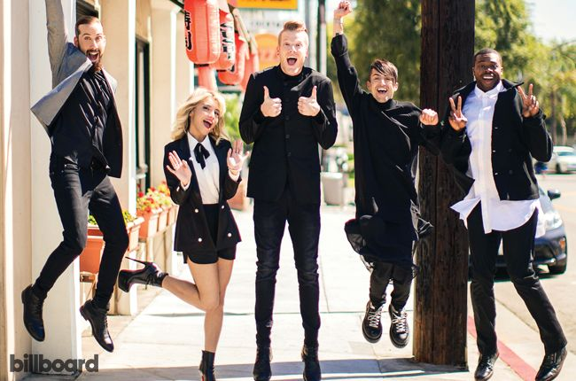 A cappella group Pentatonix achieves its first No. 1 on the Billboard 200 chart, as its new self-titled album debuts atop the tally. The set was released on Oct. 16 through RCA Records, and starts with slightly more than 98,000 equivalent album units earned in the week ending Oct. 22, according to Nielsen Music.