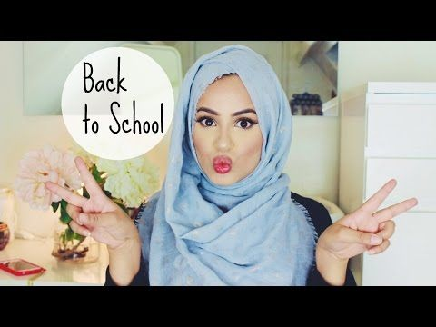Back To School/Work/College : Hijab Tutorial! - YouTube
