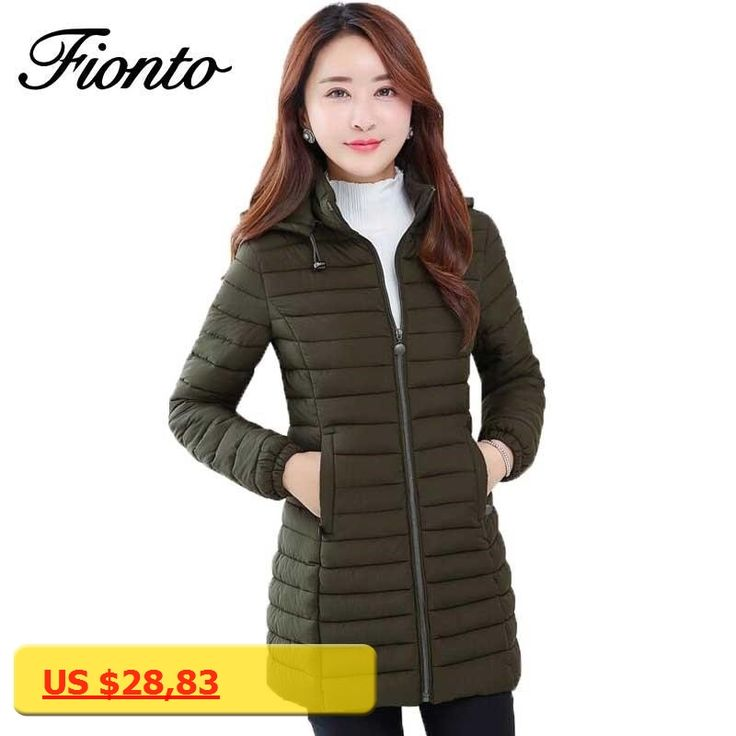 2017 Hot sale New Female Warm Winter Down Jacket Women Coat Slim Ultra-light Down Jacket Plus Size Long 3 colors Outwear F988