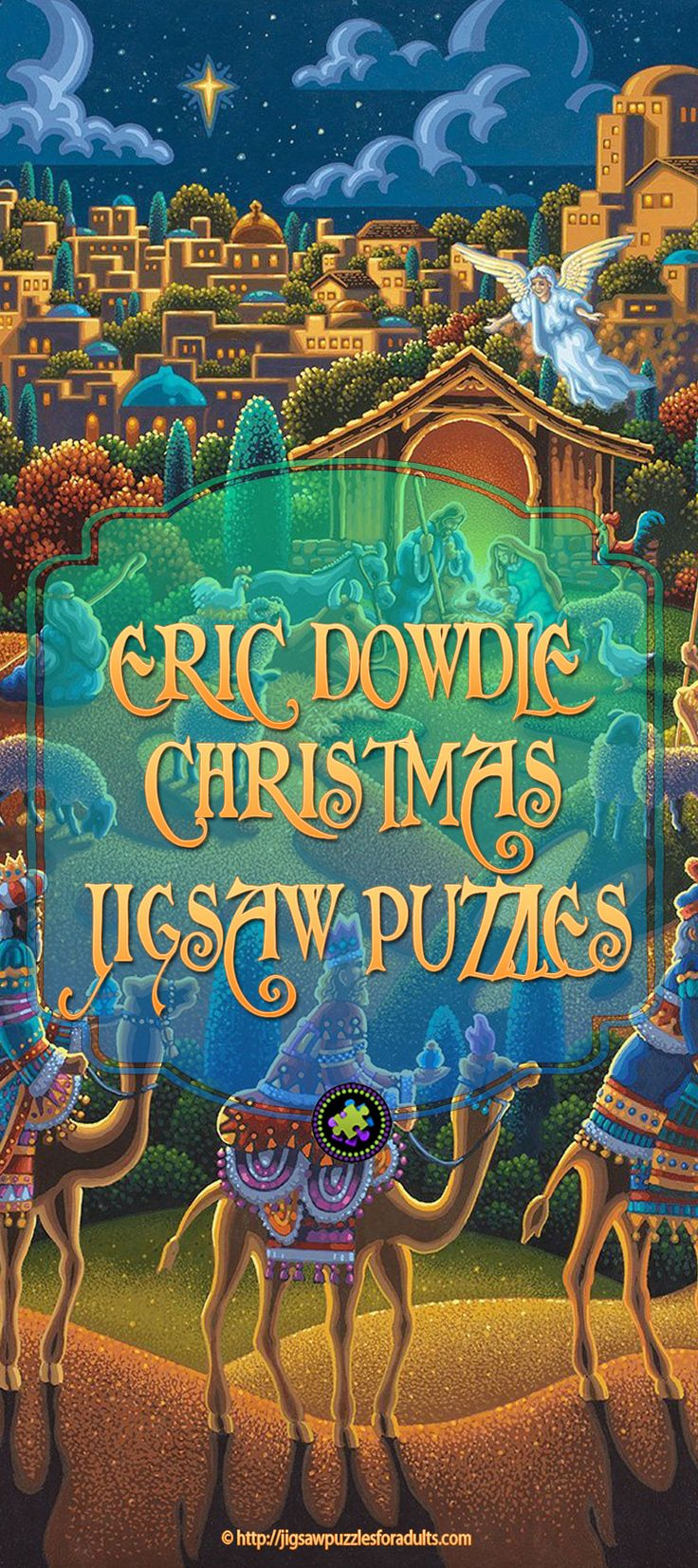 If you love folk art you'll simply love these Eric Dowdle Christmas Puzzles! There are very few artist that are able to capture the charm and warmth of the Christmas season like Eric Dowdle.