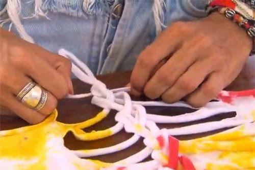 Como customizar camiseta trançada nas costas com tesoura