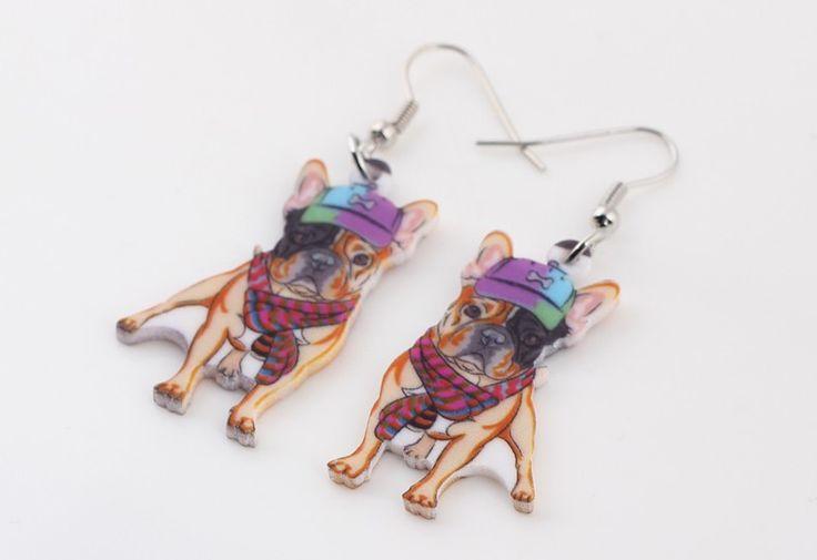 Pug Dog Earrings