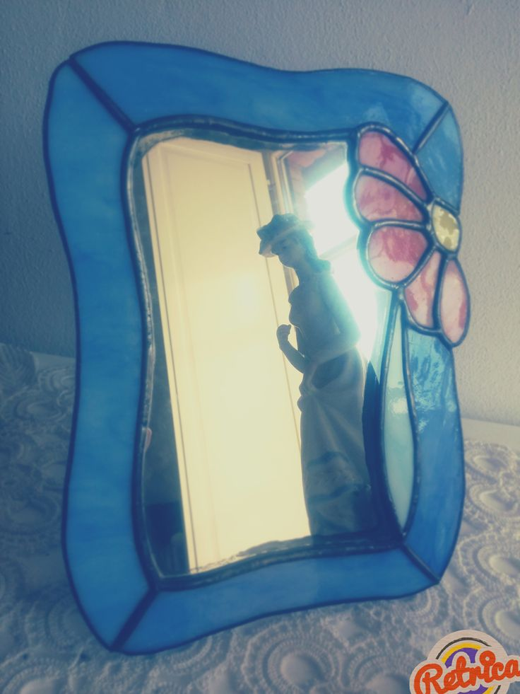 Specchio in vetro colorato