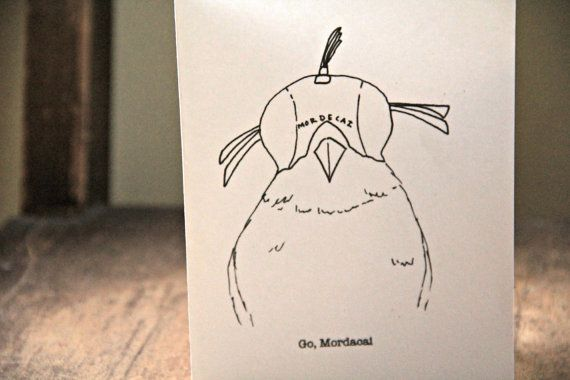 The Royal Tenenbaums Mordecai Card by EmsieArt on Etsy, $4.00