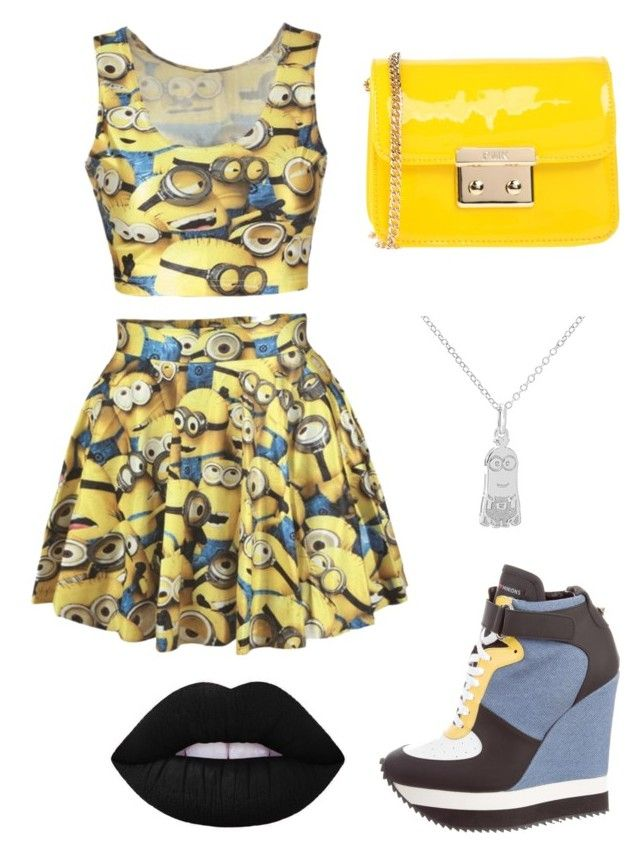 """Minions"" by tomboygeek ❤ liked on Polyvore featuring Ruthie Davis and POMIKAKI"