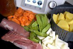 Schweinefilet mit Gemüse und Kartoffeln aus dem Thermomix® – die Zutaten – Foto: Nicole Stroschein