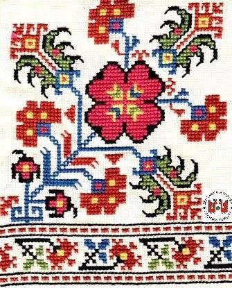 Traditional embroidery from the Vratsa region (Bulgaria).