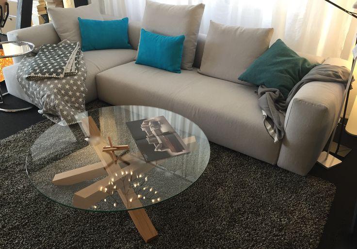NEU eingetroffen - Sofa Kombination Lario von Flexform, in Stoff Lola, Lusso,   Ihr Inneneinrichter hecht in Tübingen - Ihr Partner für wohnen, objekt und licht