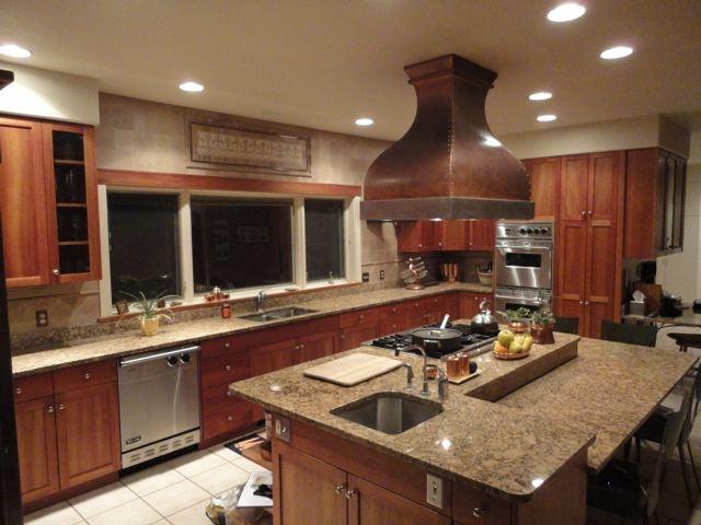Superior Beautiful Kitchen With Custom Work By Vogler Metalwork U0026 Design. Copper  Island Range Hood