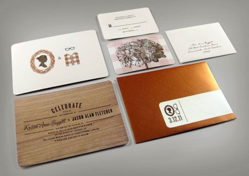 Love the combo of wood with copper envelopes!