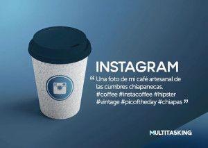 Vasos para café tienen inscrita la definición de distintas redes sociales en divertidos y creativos diseños de packaging.