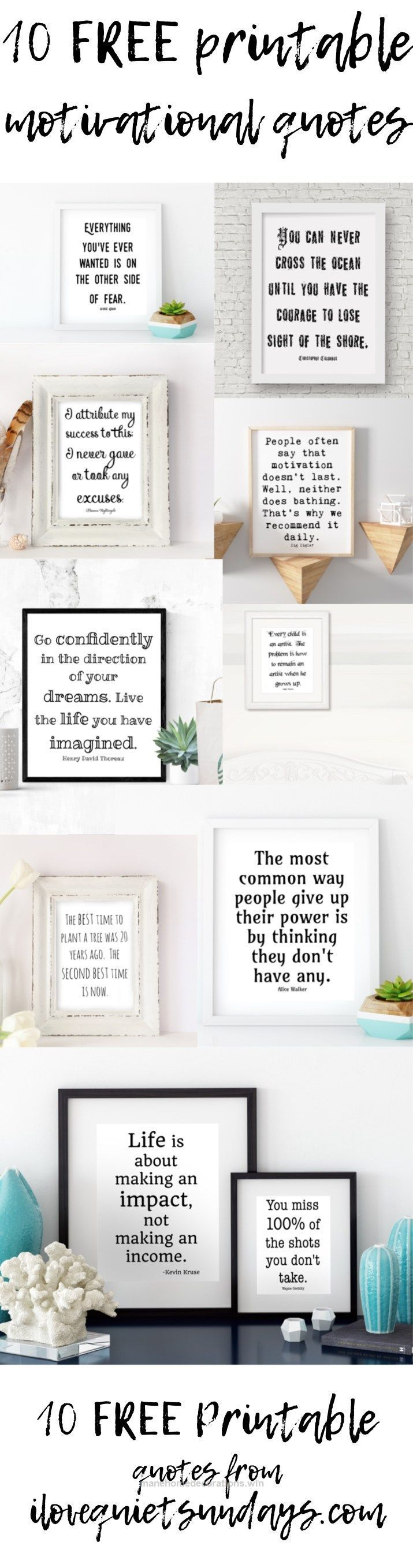 Check it out Free printable motivational quotes black and white 8×10 printables at ilovequietsundays… #motivational  The post  Free printable motivational quotes black and white 8×10 print ..