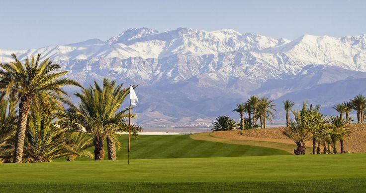 L'Atlas vu d'un golf à Marrakech