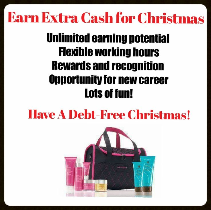 Earn extra cash for Christmas.  Join our Christmas Beauty Crew Now!!  Phone Cyndi on 0432488156 to find out more or Email Cyndi.nutrimetics@gmail.com