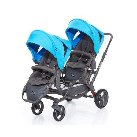 ABC-Design Zoom Tandem Pushchair-Water The ABC Design Zoom tandem is the only system that offers children face to face interaction. This unique seating arrangement is ideal for twins or any two children up to 15kg. Designed and engineered  http://www.MightGet.com/march-2017-1/abc-design-zoom-tandem-pushchair-water.asp