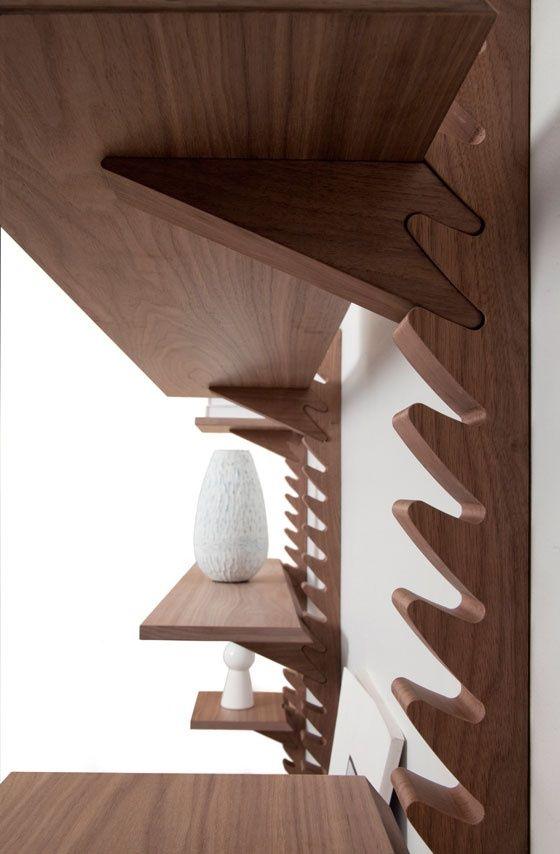 'Totem' shelving unit by Broberg & Ridderstråle of Klong (SE)  http://www.brda.se/portfolio/totem/