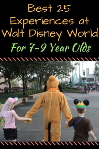 If you are planning a vacation with your child, you probably want to make sure you see and experience all of the things they would enjoy. Here are what I consider to be the best 25 experiences at Walt Disney World for 7-9 year olds: