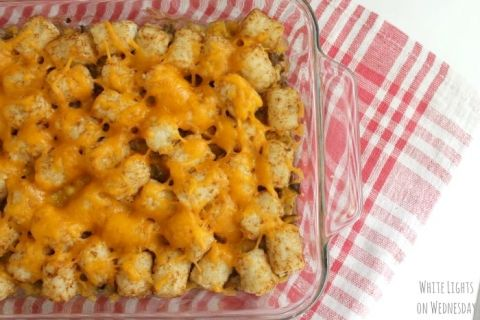 Tater Tot Casserole | White Lights on Wednesday