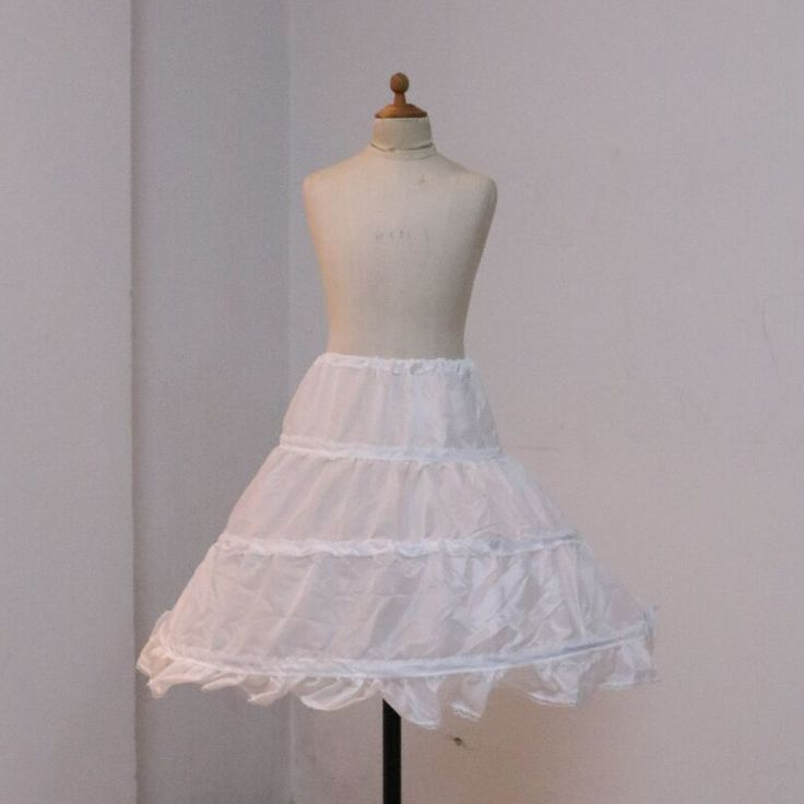 Free Shipping Three Hoops White A-Line Flower Girl Dress Petticoat 2016 Top Quality Child Underskirt For Flower Girl Dresses