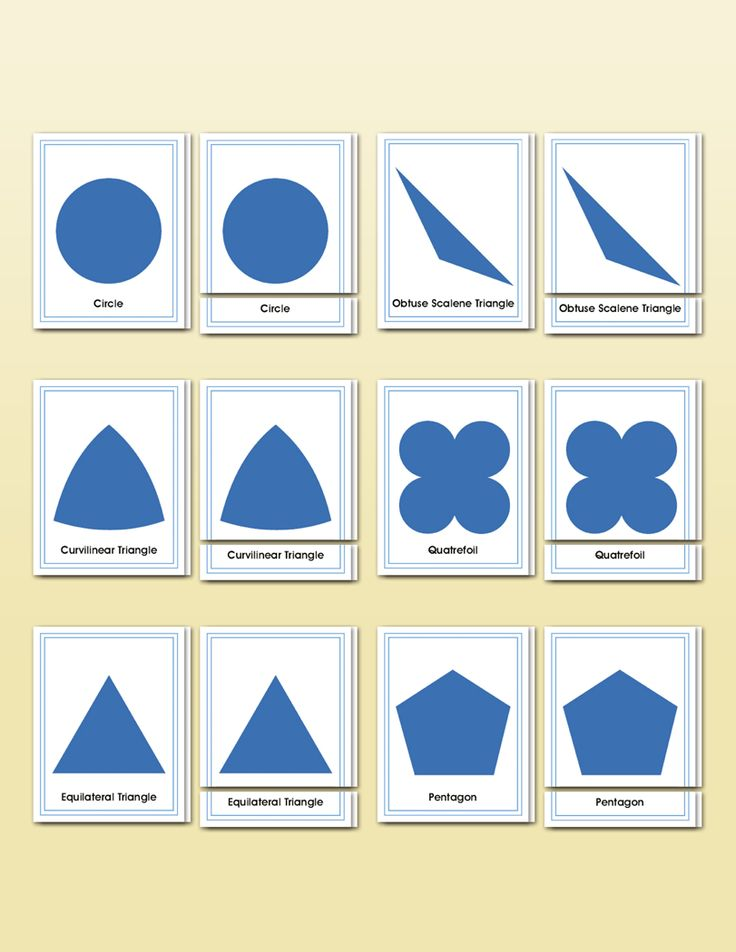 Geometric Cabinet Shapes Matching   Montessori Research and Development