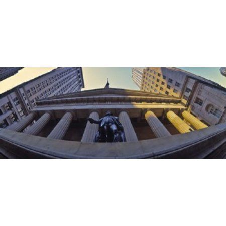 Low angle view of a stock exchange building New York Stock Exchange Wall Street Manhattan New York City New York State USA Canvas Art - Panoramic Images (15 x 6)