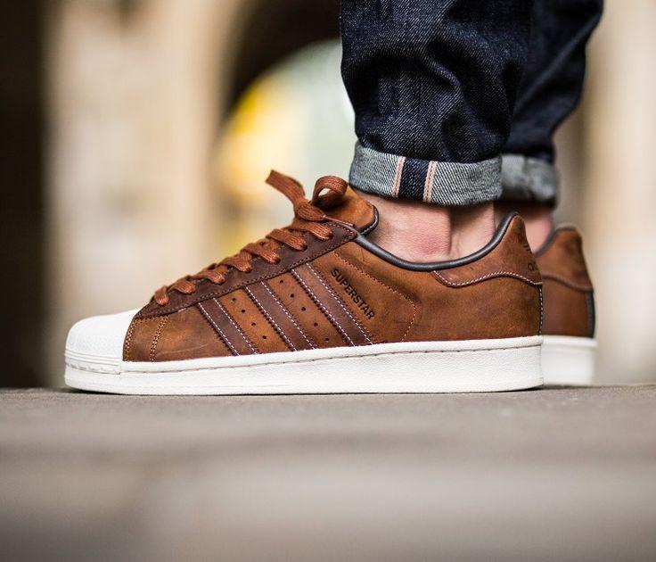 adidas superstar brun
