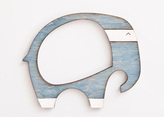 Picture frame, Wooden photo frame, Magnets, fridge magnets, Elephant, Many color variations