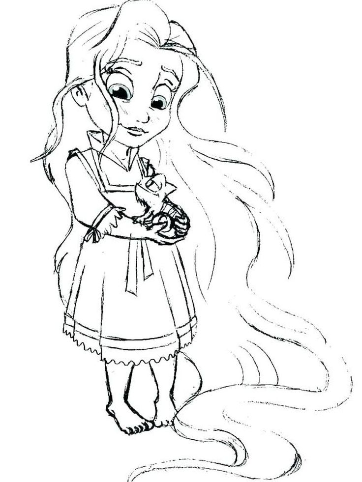 Ariel And Her Sisters | Tangled coloring pages, Disney ...