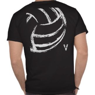 v volleyball front back t shirts - Volleyball T Shirt Design Ideas