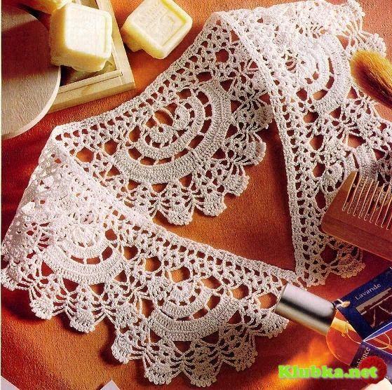 Patrón #842:Cuello para Blusa a Crochet