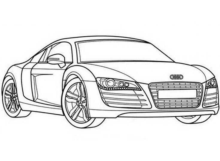 Ausmalbilder Autos Audi R8 #audi #r8 | Audi logo, Ausmalen ...