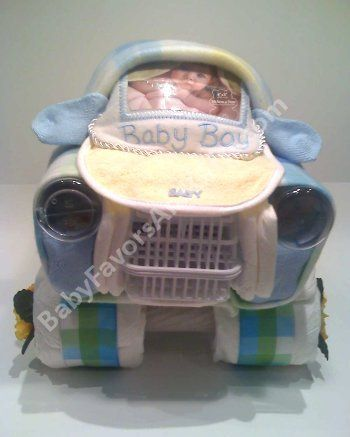 Car Diaper Cake, unique baby shower gifts by BabyFavorsAndGifts, via Flickr