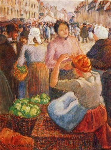 Marketplace, Gisors - Camille Pissarro