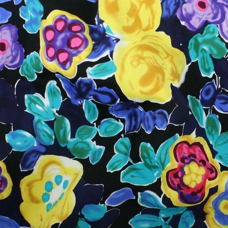 Stretch Cotton Sateen Print - Matisse Flowers - Distinctive Sewing Supplies