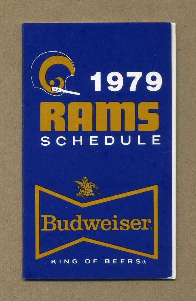 #NFL los angeles rams vintage schedule 1979 budweiser from $4.99