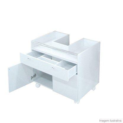 Módulo para encaixe em lavatório com coluna Fit branco Compace - Telhanorte