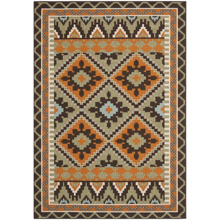 Safavieh Veranda Piled Indoor/Outdoor /Terracotta Area Rug