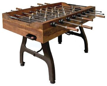 Reclaimed Foosball Table Contemporary Game Tables