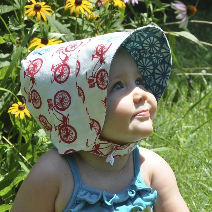 Mod bonnet: reversible for boys and girls. Spring, summer and fall!