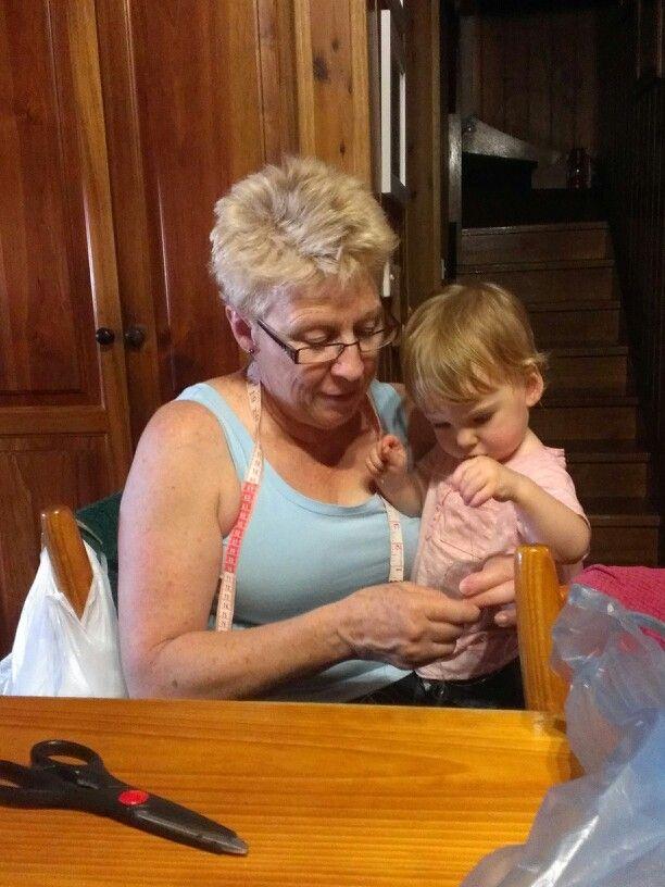 Elsie kelping grandma