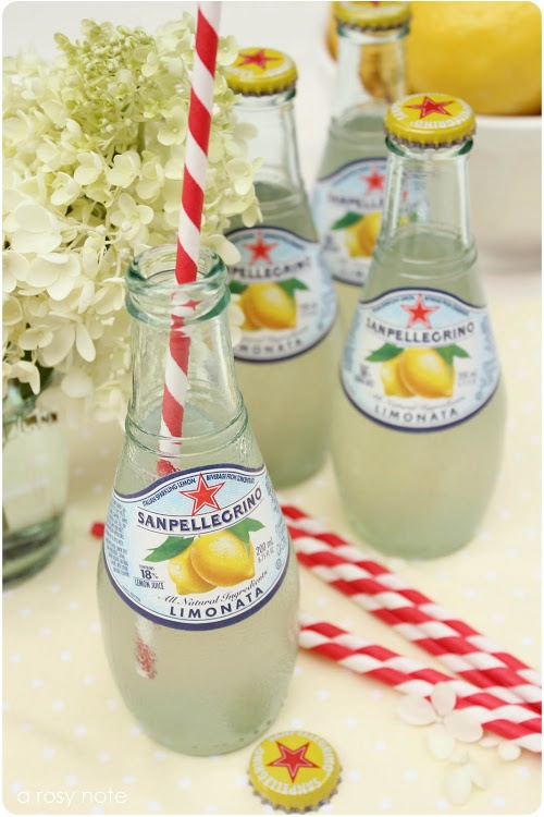 Gotta have San Pellegrino! Orange and lemon with fun straws