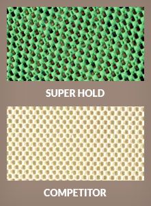 voted as most natural open weave rug pad super hold is made of 100
