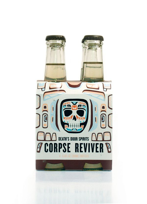 Alcoholic Drinks Creatively Packaged As 'Corpse Revivers' - Great Idea I say !!!!! :)