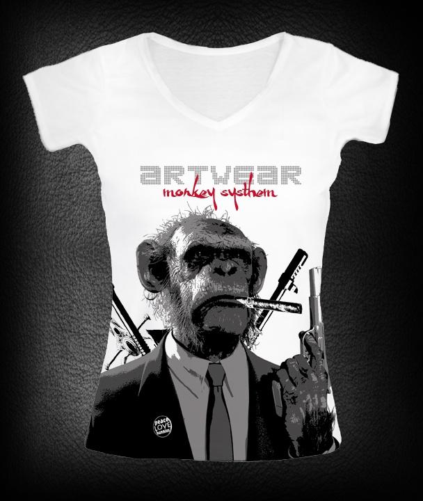 t-shirt femme Monkey Fiction P-plum