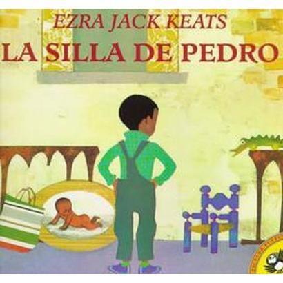 La Silla de Pedro por Ezra Jack Keats:  El libro es muy sencillo, pero me encanta por la lección que lleva. Pedro tiene una hermanita bebé, sus padres le están pintando cosas viejas de Pedro de color rosado. Pedro se enoja cuando mira que van a pintar su silla, pero luego se da cuenta que el esta muy grande para ella. El regresa y la pinta de rosada también. La lección era que primeros hijos se pueden relacionar con tener hermanos nuevos y no estar acostumbrados.