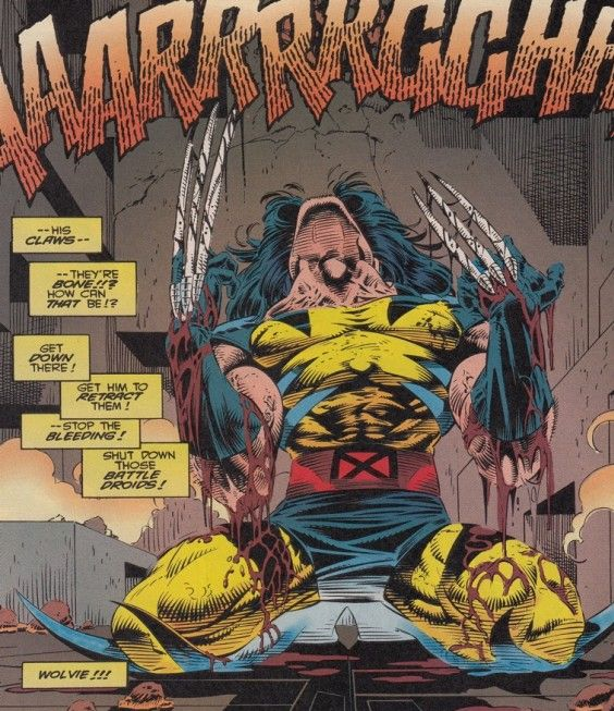 Wolverine's bone claws