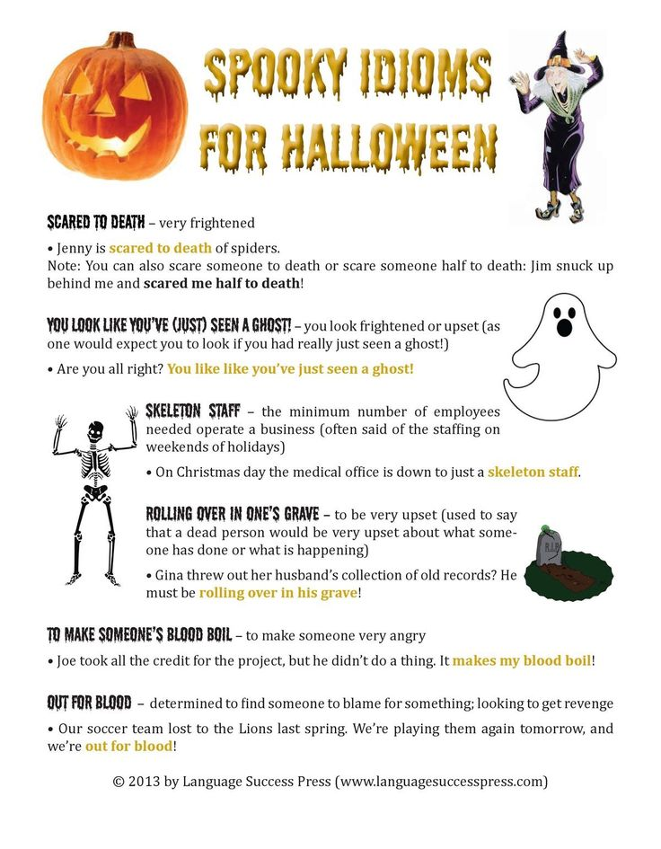 Spooky Idioms for Halloween
