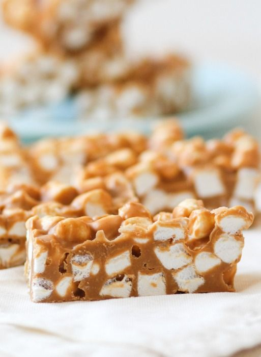 No Bake Peanut Butter Marshmallow Bars Post Image