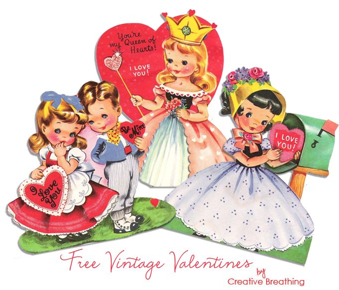 453 best Images  Vintage Valentine images on Pinterest  Vintage